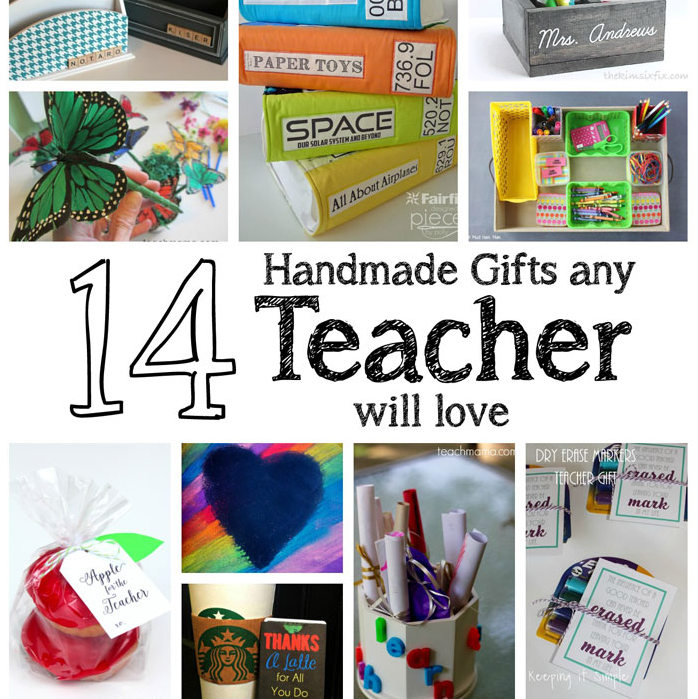 Love these diy teacher gift ideas. Handmade tutorials for gifts any teacher will love