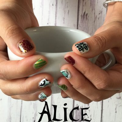 Alice Through the Looking Glass Nails Tutorial