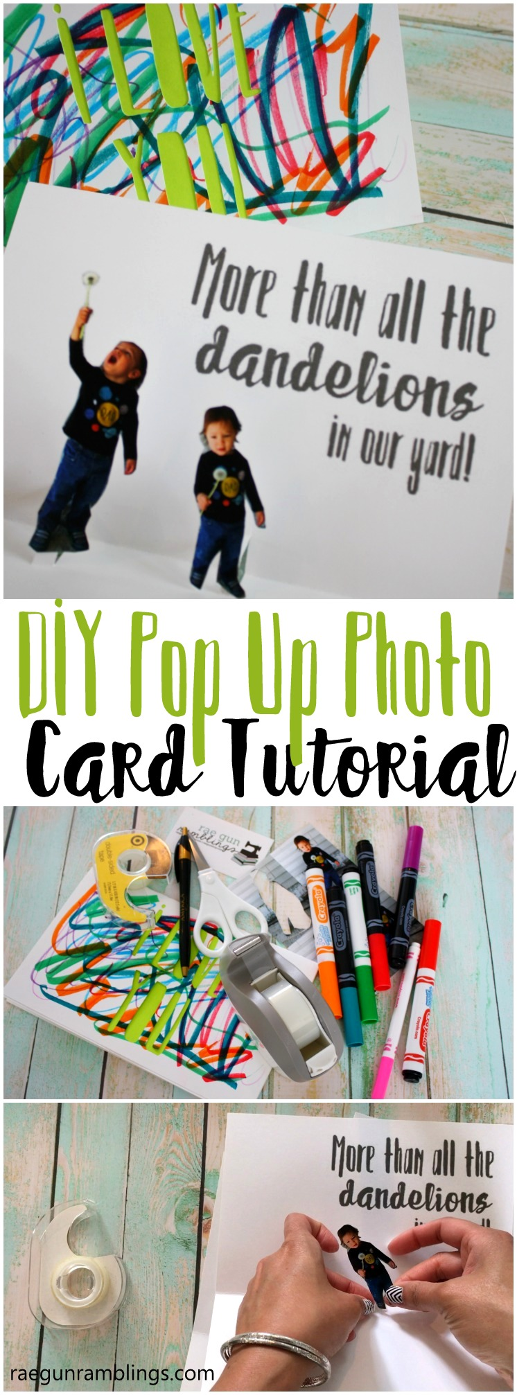 how to make a photo card in just 15 minutes. Cute DIY craft idea