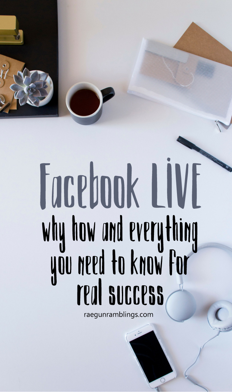 How to do facebook live. Great tutorial for bloggers with lots of helpful advice.