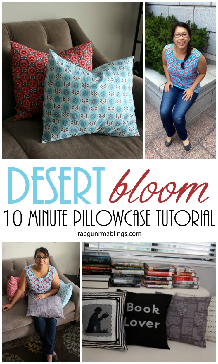 Desert Bloom fabric projects including easy DIY pillowcases