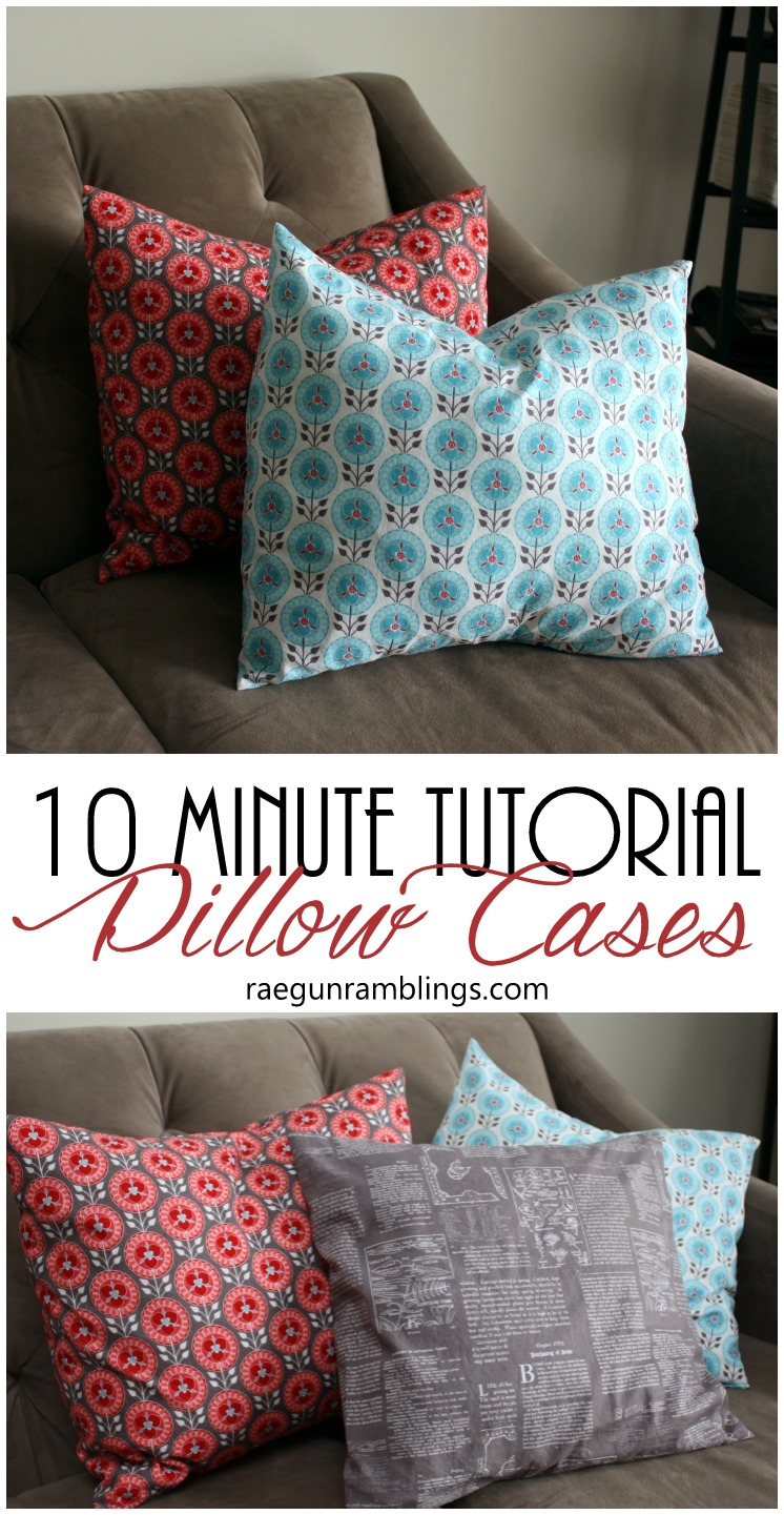 Just made a bunch of these. Great video tutorial for fast pillowcases. Perfect for DIY home decor. Also how to figure out how much fabric you need for throw pillow covers.