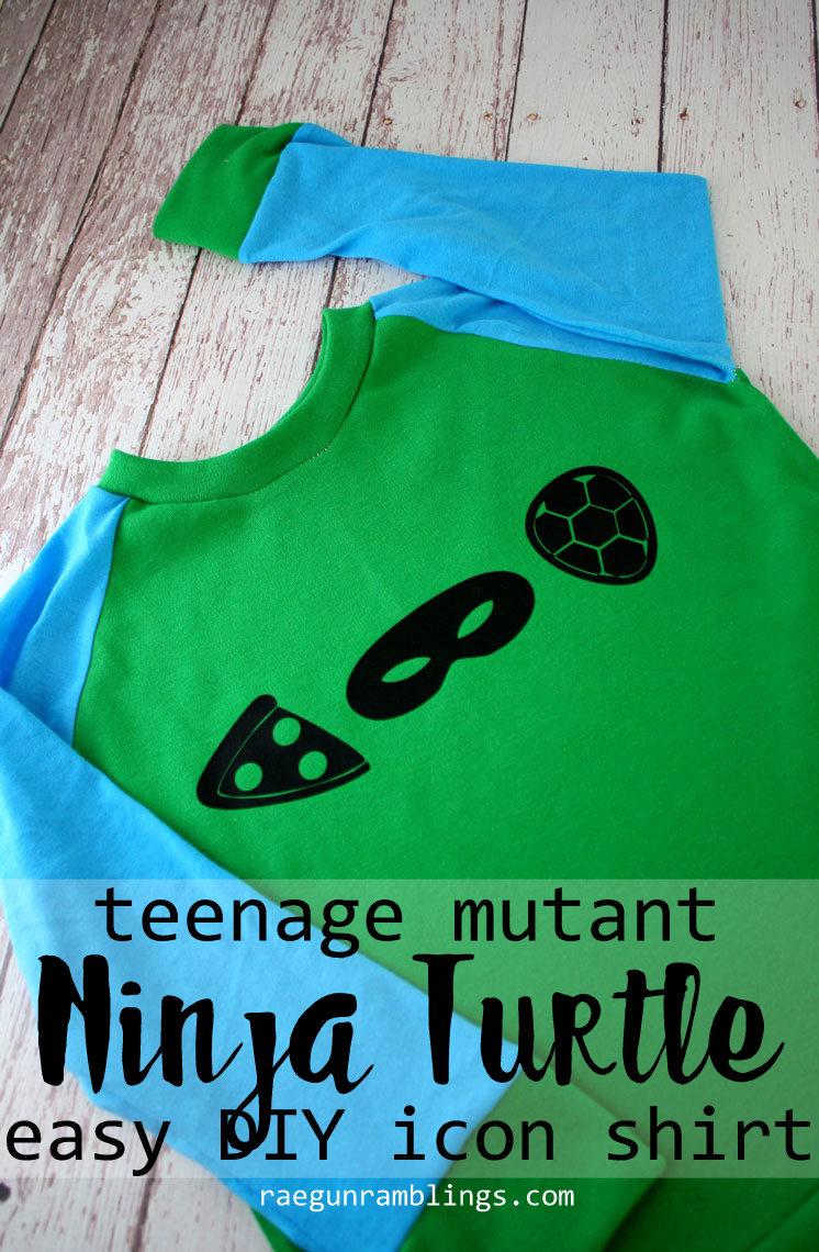 Cute and easy DIY teenage mutant ninja turtle icon shirt tutorial