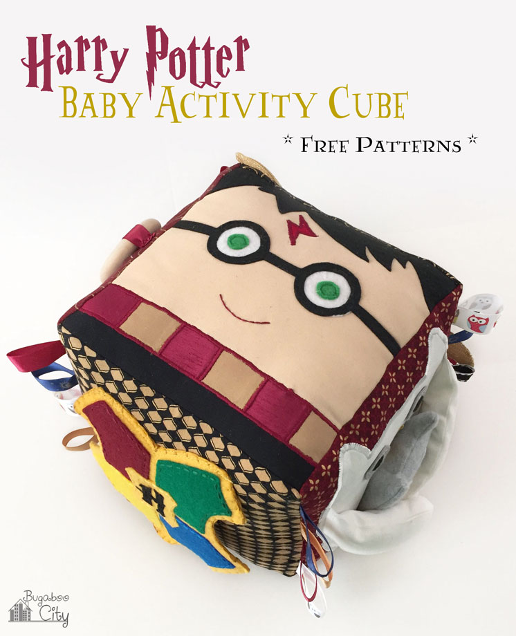 Amazing Harry Potter Activity Cube with Sewing Pattern and full instructions