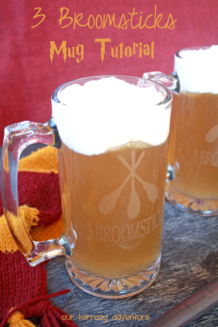How to make an awesome DIY 3 Broomsticks mug. Awesome Harry Potter gift and craft idea