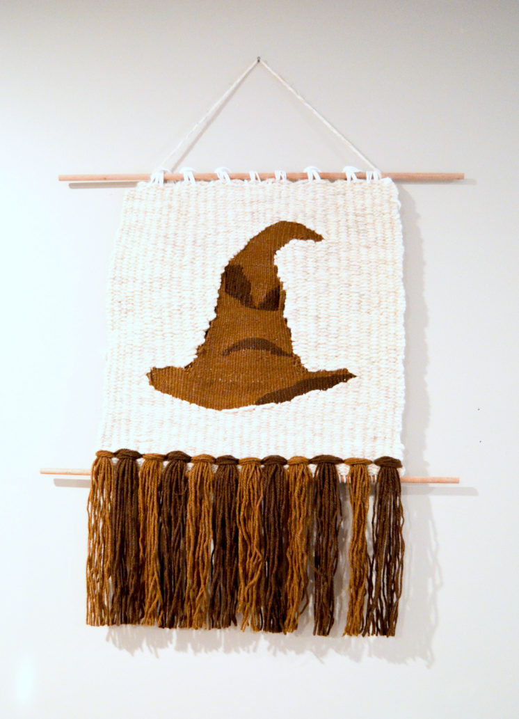 Harry Potter Sorting hat weaving wall hanging