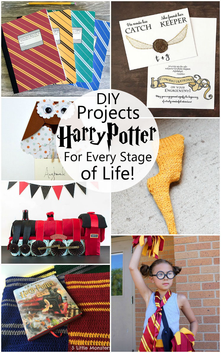 So many awesome DIY Harry Potter projects. Weddings, Baby Showers, back to school and more!