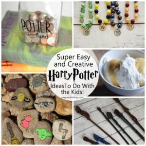 Fun Harry Potter inspired kid activities. Great boredom busters
