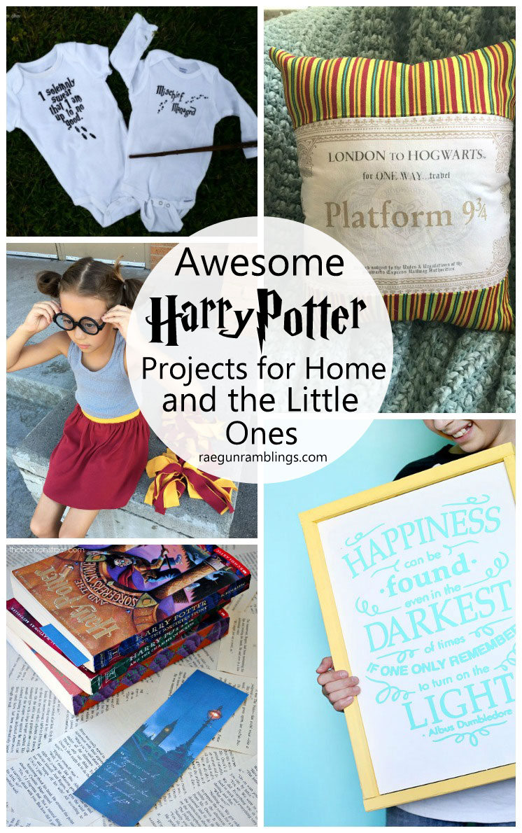 SO many fun harry potter items to make for the home and kids