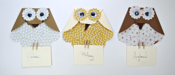 Adorable DIY paper Owls perfect for Harry Potter Parties