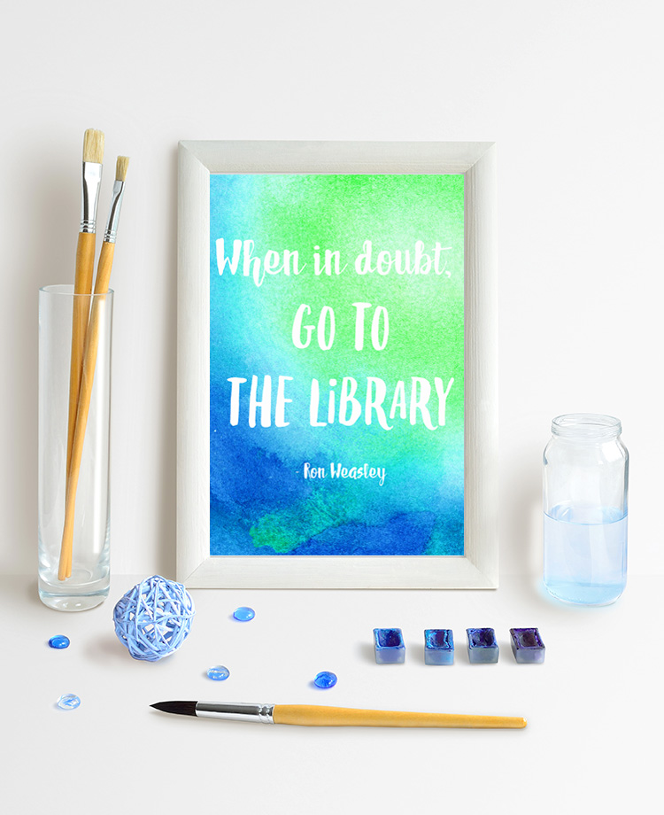 Printable Harry Potter Watercolor Quote. Great home decor idea.