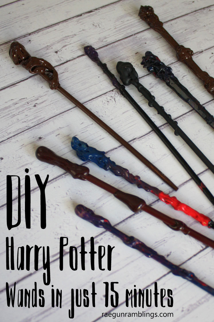 I've tried a lot of wand tutorials and this is the easiest and fastest and they turn out great. Fun Harry Potter party or costume idea.