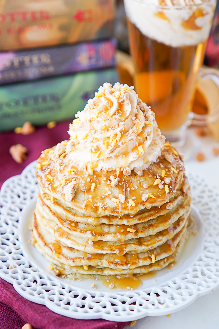 Must make this Harry Potter butterbeer pancakes recipe