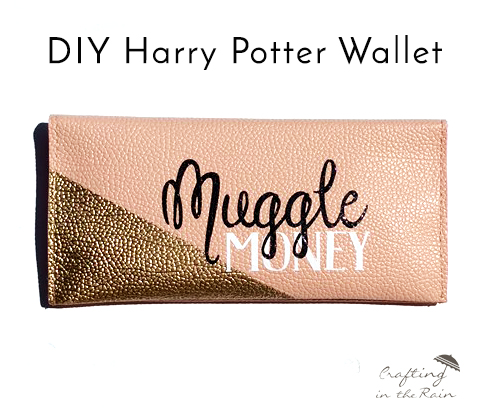 harry potter Muggle money wallet tutorial and other awesome potter crafts and recipes
