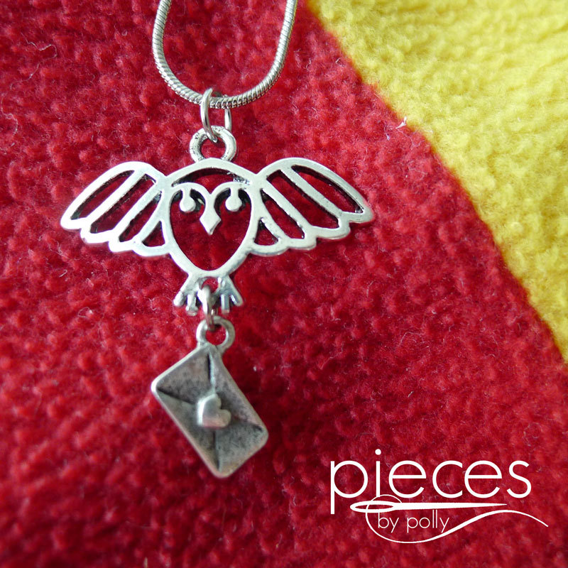 Love this Harry Potter Hedwig Owl Post necklace