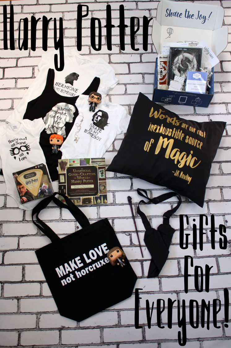 Great list of UNIQUE Harry Potter gifts. So many bookish things perfect for any reader.