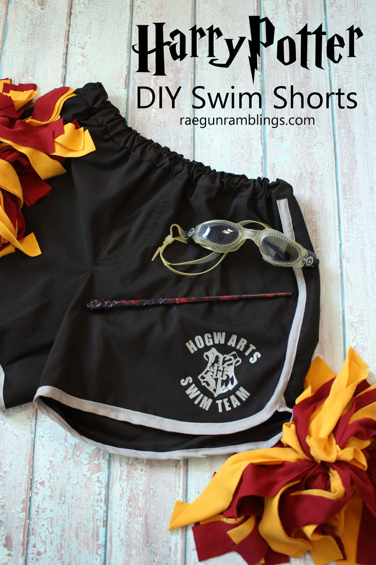 DIY Hogwarts Swim Team Shorts fun Harry Potter Fashion