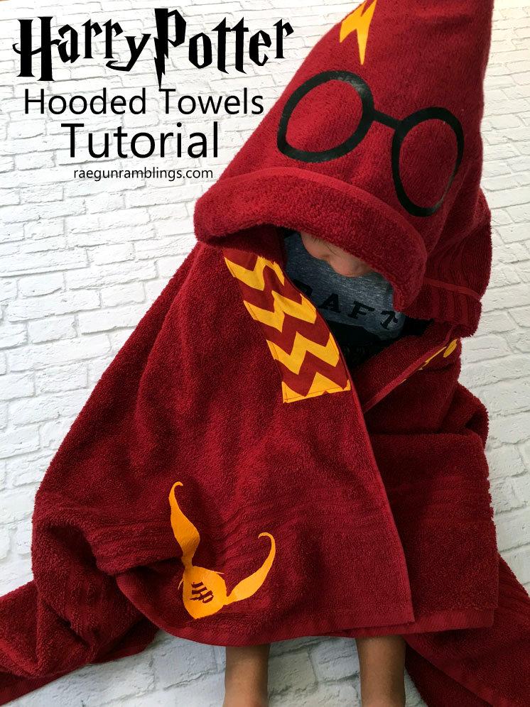 Diy Harry Potter Hooded Towels Tutorial Rae Gun Ramblings