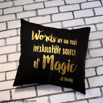 Dumbledore Quote Pillowcase Tutorial