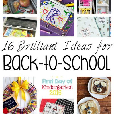 16 Brilliant Back-to-School Crafts Recipes and More and Block Party