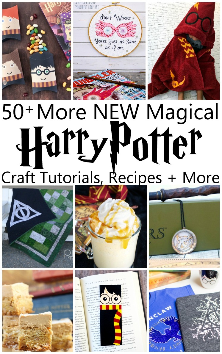 Crazy huge collection of unique and original Harry Potter craft tutorials, recipes, book lists and more. So many magical projects. via @raegun