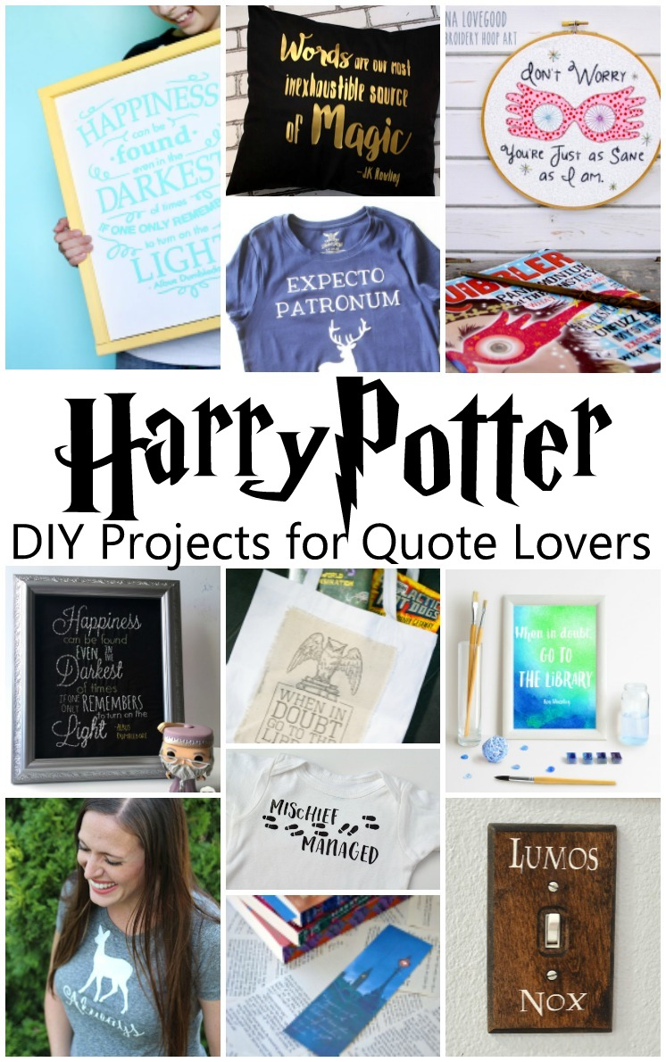 Love it. A bunch of craft tutorials based on Harry Potter quotes. Booknerd love!