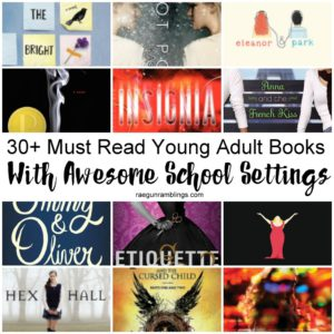 Books with School settings. Fun back to school young adult reading list.