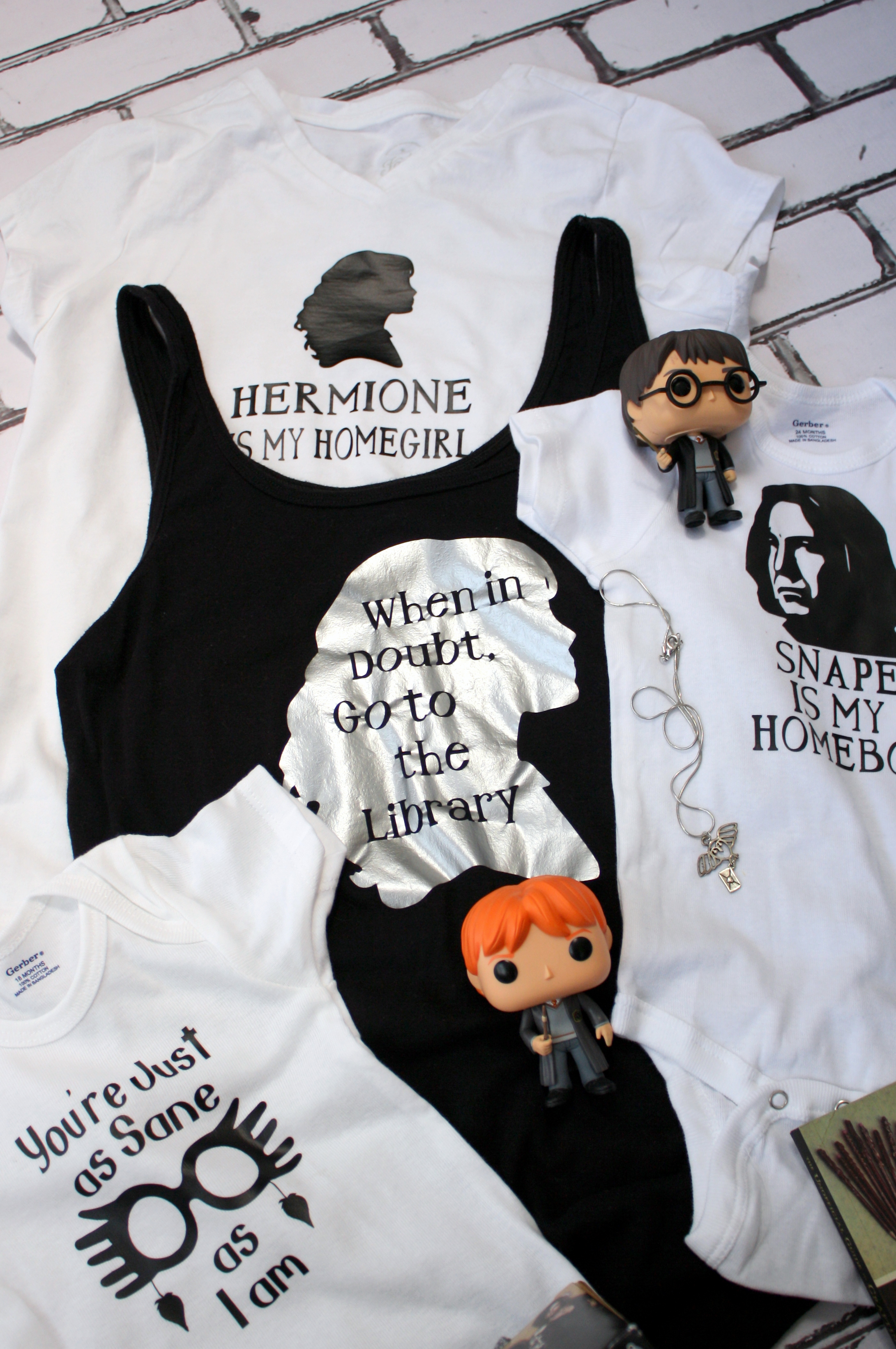 Awesome and creative Harry Potter shirts. For baby, children, teens, and adults.
