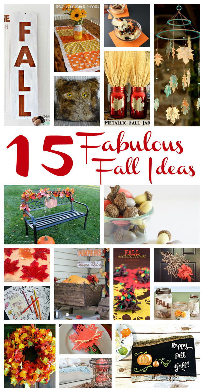 15 fabulous fall crafts and recipes to diy for thanksgiving, Halloween, and more.