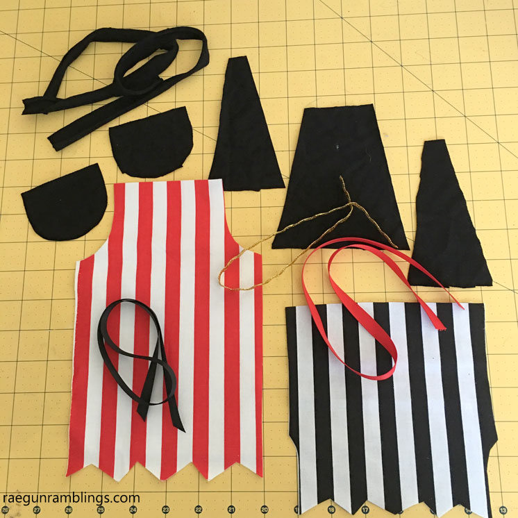 How to make pirate costumes. Sewing tutorial and doll pattern