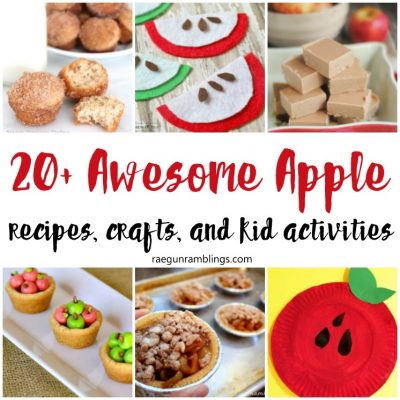 20+ Apple Crafts and Recipes and Block Party