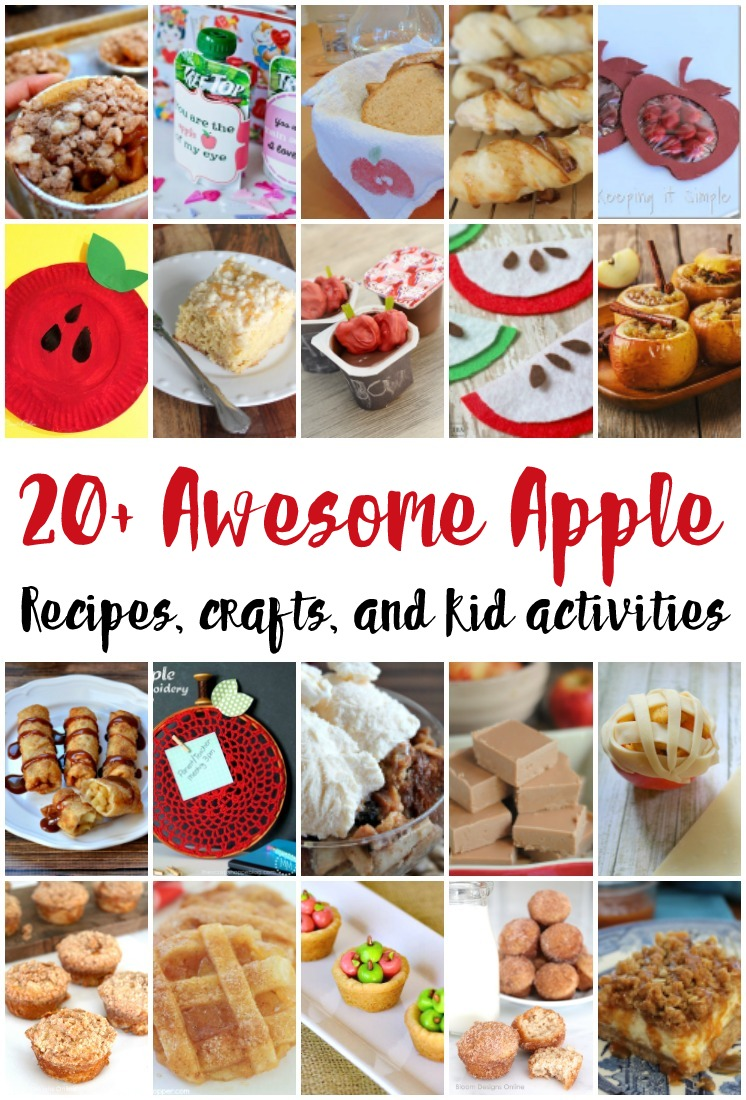 Lots of great apple recipes, crafts and kid activities