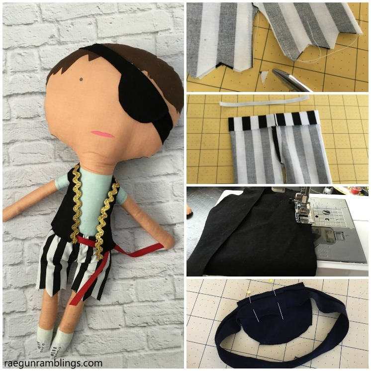 DIY Pirate Dolls Tutorial with Free Pattern - Rae Gun Ramblings