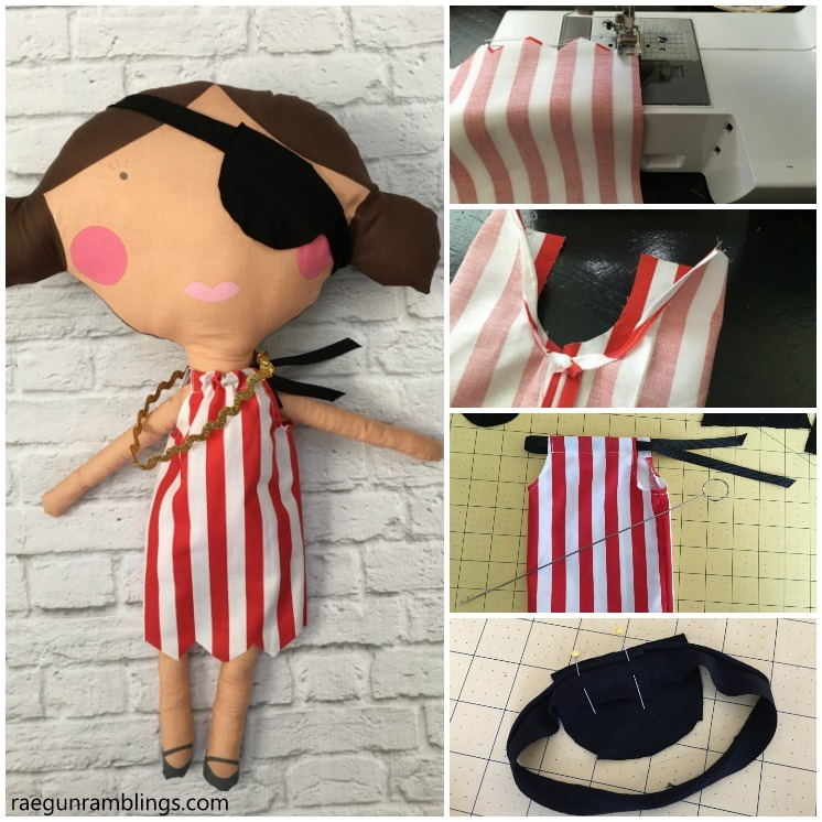 DIY girl pirate. Free sewing pattern for pirate costume