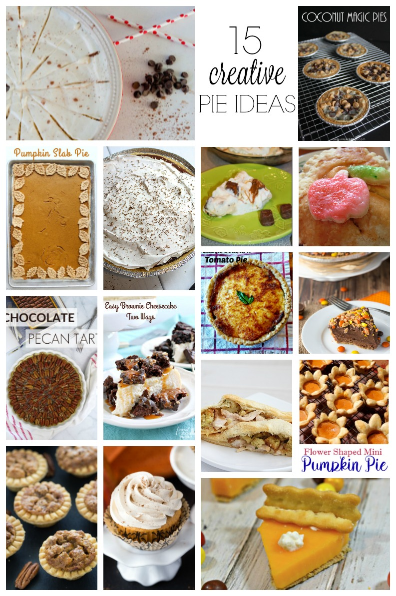 Traditional and unique pie recipes perfect for Thanksgiving, Christmas, or Pi day. Mini pies, full size pies and more. via @raegun