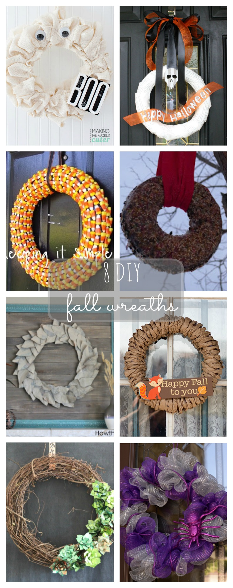 8 DIY Fall Wreaths