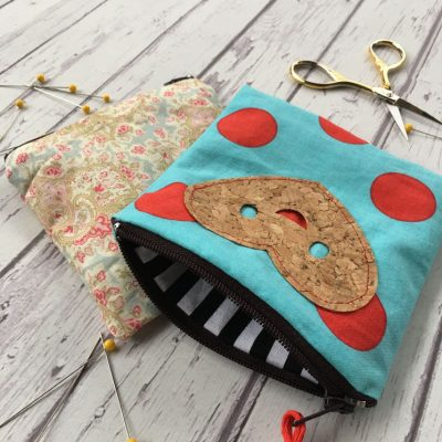 15 Minute Zipper Pouch Tutorial and Cork Fabric