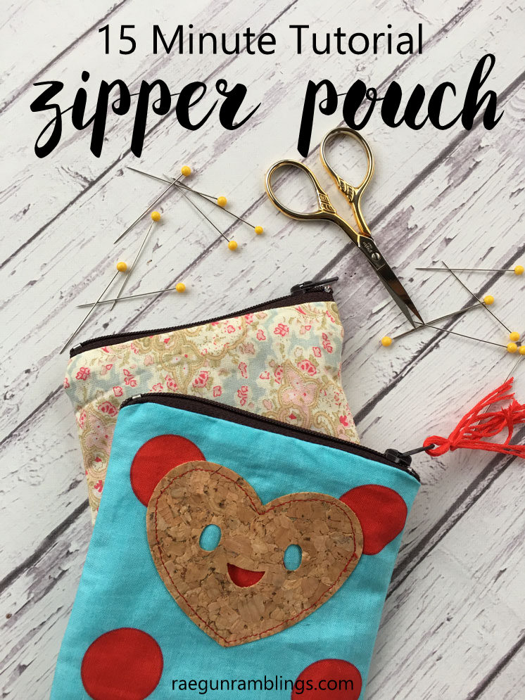 How to make a zipper pouch. Great 15 minute sewing tutorial.