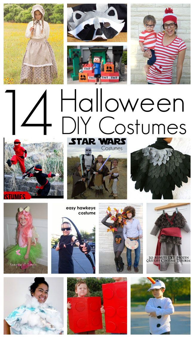 Adorable DIY Halloween costumes tutorials