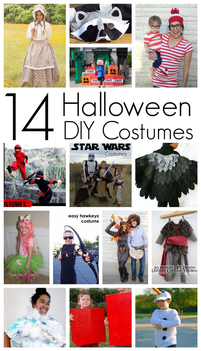 Adorable DIY Halloween costumes tutorials