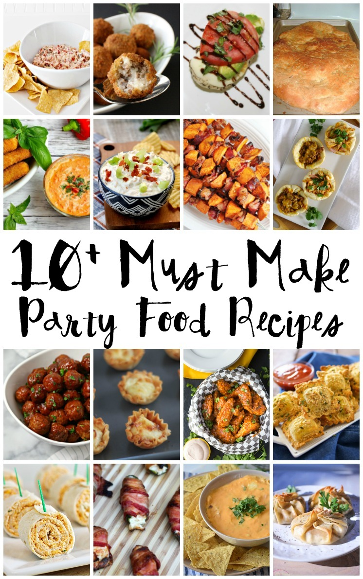 So many delicious Party food recipes. Appetizers, chips and dip, wings meatballs and more