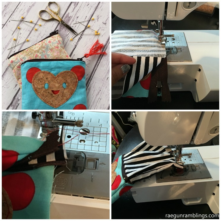 How to make a zipper pouch in just 15 minutes. Great zippered pouch sewing tutorial.