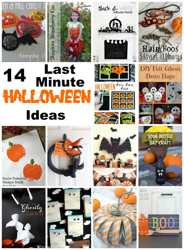 Last minute Halloween ideas that can be made really fast. Great craft tutorial