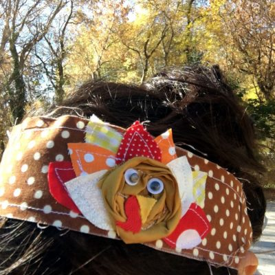 15 Minute Fabric Turkey Headband Tutorial