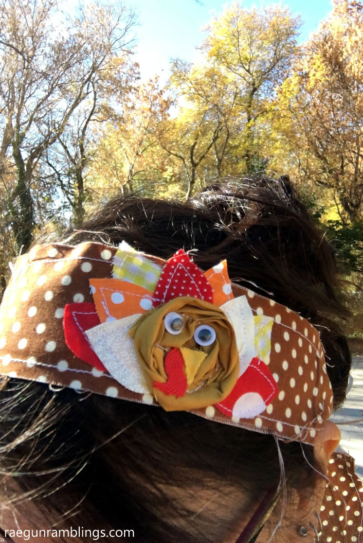 Thanksgiving headband. Easy turkey sewing tutorial
