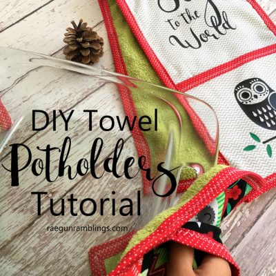 DIY Christmas Potholder Towel Tutorial