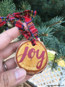 Love These Simple Joy Wood Slice Christmas Ornaments So Easy To