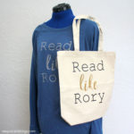 Read Like Rory Shirt and Book Bag Tutorial plus other Gilmore Girls inspired crafts and recipes
