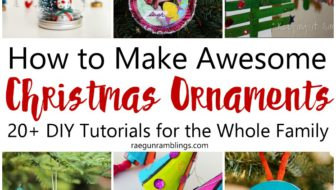DIY Christmas Ornaments and Block Party