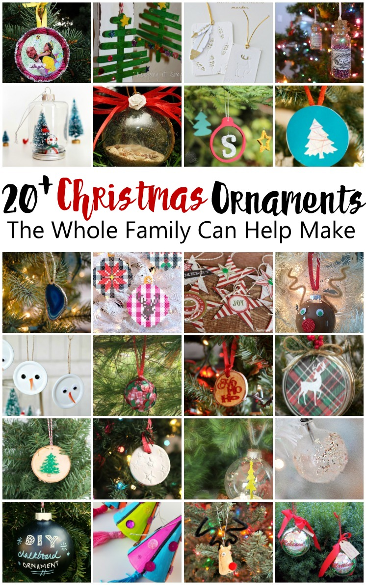 Great list of Christmas ornament tutorials. Tons of DIY christmas ornaments that would be great for kid activities too.